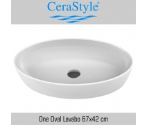 Cerastyle One Lavabo 67x42 cm
