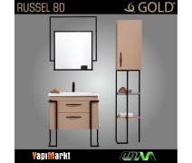 GOLD Russel 80cm Banyo Dolabı