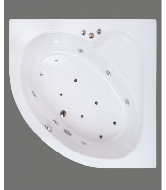 Shower Flibos Oval  Küvet 150x150X55 cm